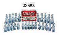 "25 Pieces Milton 777 A-Style Air Hose Fittings 1/4"" Male NPT Coupler Plugs"