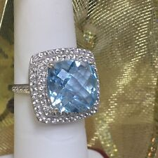 Blue and White Topaz Ring (10k)