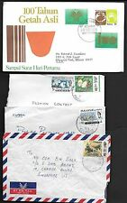 MALAYSIA1960's COLLECTION OF 9 COMMERCIAL COVERS INCLUDING 1 REGISTERED & 1 FDC