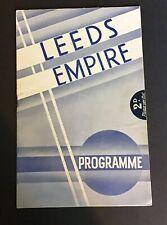 Big Bands: Leeds Empire Original Variety Programme With Jack Payne & His Band