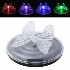 1 X Solar Power Butterfly Colour Changing Garden Pond Floating LED Lights
