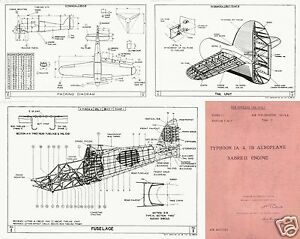 HAWKER TYPHOON 1940's MAINTENANCE MANUAL RARE HISTORIC WW2 ARCHIVE Sabre engine