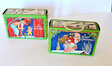 2 Antique Christmas Candy Boxes that Hung on Christmas Tree !