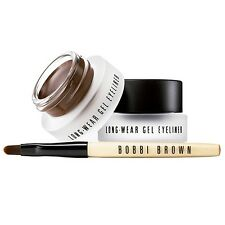 SET Bobbi Brown Long-Wear Gel Eyeliner Makeup Sepia Brown+Black 2pcs+Applicator