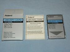 ROLAND M-512E MEMORY CARD RAM in Case Original Box 64K BYTES Free US shipping!!