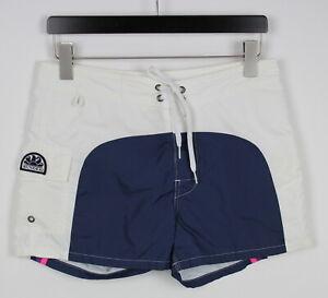 SUNDEK Men's W29 White Nylon Pocket Beach Swimming Shorts 38392_GS