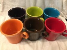 Authentic Fiesta Ware Homer Laughlin Ring Handle Style Coffee Cups 6 Colors