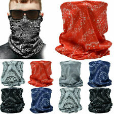 3Pcs Paisley Tube Scarf Bandana Head Face Mask Multi-use Neck Gaiter Outdoor Cap