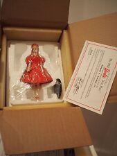 Nib Vintage Danbury Mint 1996 Mattel Barbie Figurine Coa 1962 Red Flare