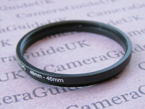 48mm to 46mm Male-Female Stepping Step Down Filter Ring Adapter 48mm-46mm