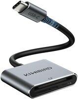 KiWiBiRD USB C Card Reader, Type-C SD/Micro SD/TF/Compact Flash/CF Card Adapter