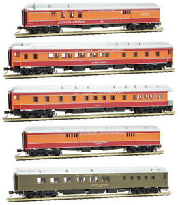 Micro-Trains MTL N-Scale Cotton Belt/SSW Daylight Heavy Passenger Cars 5-Pack
