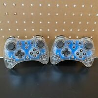 PDP Afterglow Pro Wireless Controller For Nintendo Wii U -Lot Of 2 -No USB Cable