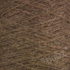 BERBER RUG MAKING WOOL DONKEY 500g CONE LATCH HOOK CARPET WEAVE YARN BROWN BB22