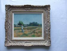 Michael D'Aguilar - In Richmond Park 1985.  One of a Collection of 4 Paintings