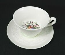 Wedgwood Footed Teacup & Saucer - Patrician Swansea