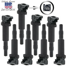 8pc ignition coil kit for BMW 5, 6, 7, X5, X6, M5, M6 4.4L 4.8L V8, uf592 uf570