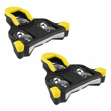 BV Road Bike Cleats Compatible w/ Shimano SPD-SL 6-Degree Float Split Design OEM