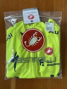 Audi Cycling Team Castelli Podio Jersey High Viz Yellow 2021 Men's L
