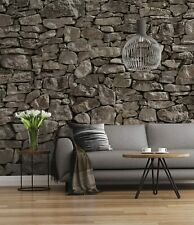 Grey Stones bedroom Wall mural wallpaper Giant poster style walldecor 144x100in