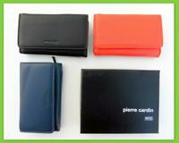 Pierre Cardin RFID Protected Genuine Italian Leather Lady Trifold Purse Wallet !