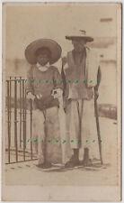 CDV Mexico Strassenbettler Mexique Types Fotografo Merille Sn. Francisco 1865