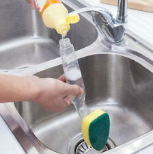 Soap Dispenser Scrubber Dish Wand Brush Scrub Refill Washing Potts Pan Kitchen