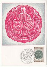 CARTE MAXIMUM FDC 1977 TIMBRE N° 1944 RATTACHEMENT DE LA BOURGOGNE