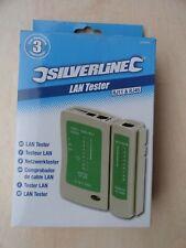 Silverline LAN Tester RJ11 RJ45 Network Computer Test Cable Connection 539465