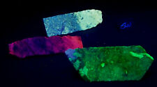 Fluorescent 3 Lot w Anderson Mine Agate and Calcite and Hauyne & Phlogopite