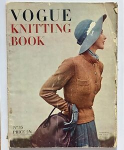 40s vintage Vogue fashion Knitting Book No.35 autumn looks for 1949