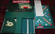 SUPERB MATTEL 2003 SCRABBLE COMPLETE WITH 100 GREEN LETTER TILES RARELY PLAYED