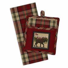 Design Imports MOOSE TRAIL LODGE Pocket Pot Holder & Dish Towel Gift Set