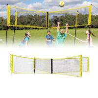 Volleyball Net Universal Durable Four-sided Cross Beach Outdoor Indoor PE Sport