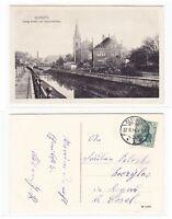 AK Gleiwitz Oberschlesien Ev. Kirche und Diakonissenhaus gebraucht #PB997