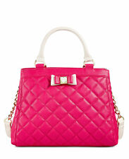 Betsey Johnson Pink Quilted Satchel / Crossbody/ Handbag, NEW with Tags