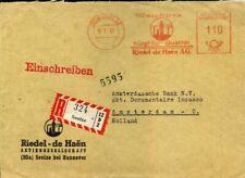 415055) Bund Blg m. AFS Seelze 1957, Einschreiben n. Holland, Götz 225,-
