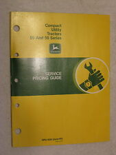 Original John Deere 55 & 56 Series Utility Tractors Service Pricing Guide Manual