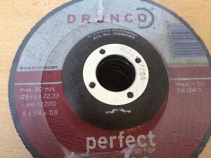 Grinding Cutting Metal Dronco Perfect Discs 10x 125x6x22 ArtNo: 3126040