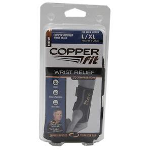 Copper Fit Compression Wrist Sleeve Orthotics Brace Right Hand L/XL