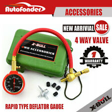 4WD Rapid Tyre Deflator Deflator Tire Air Pressure Gauge/ Dial Valve Tool Kit