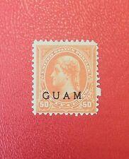 Guam 1899... 50 cents, Scott 11* MH... CV $350