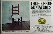 Handsome House Of Miniatures Dollhouse Miniature Slatback Chair Kit, New!