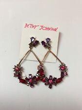 $50 Betsey Johnson Fall Follies dangle statement earrings. BJF6