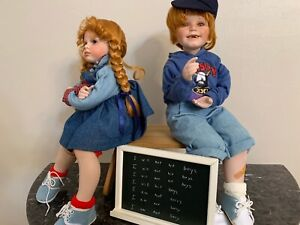 """Donna & Kelly RuBert - Hannah & Henry: Time Out Porcelain Collectible Doll 18"""""""