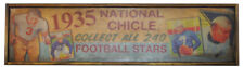 Antique Style 1935 National Chicle Football Card Ad Wood Printed Sign 6x24