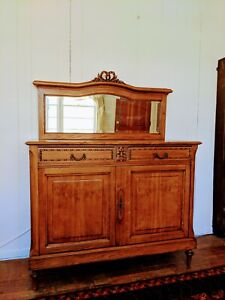 """Bedroom Dresser with Mirror Art Deco"""" L' EAU DE LA MONTAGNE"""" 1930s."""