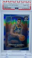 2017 Donruss Optic Rated Rookie Holo Donovan Mitchell PSA 10 Rc Jazz