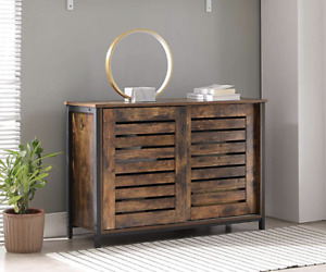 Vintage Industrial Sideboard Cupboard Rustic Kitchen Hall Office Storage Cabinet