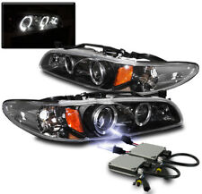 1997-2003 PONTIAC GRAND PRIX BLACK HALO PROJECTOR HEADLIGHTS W/10K XENON HID SET